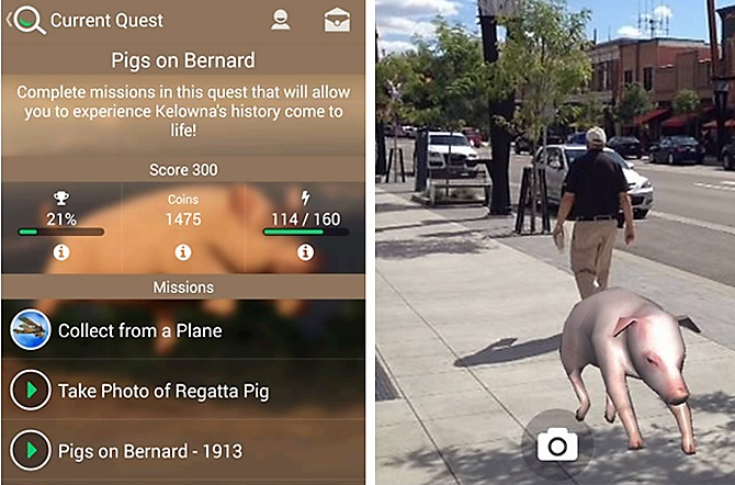 Kelowna museums games Pigs on Bernard app Games