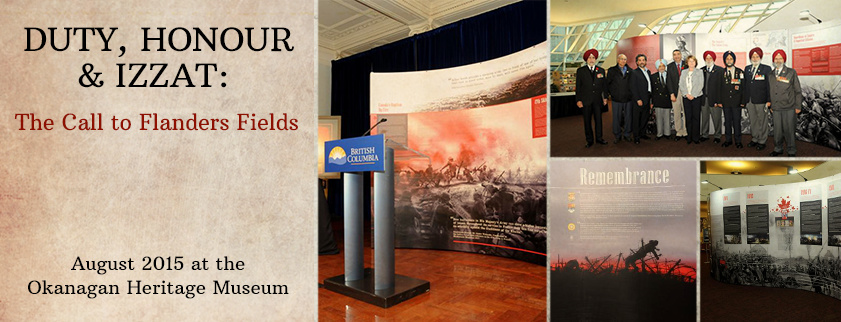 KelownaMuseums DutyHonourIzzat FeatureImage FINAL Duty, Honour & Izzat   The Call to Flanders Fields