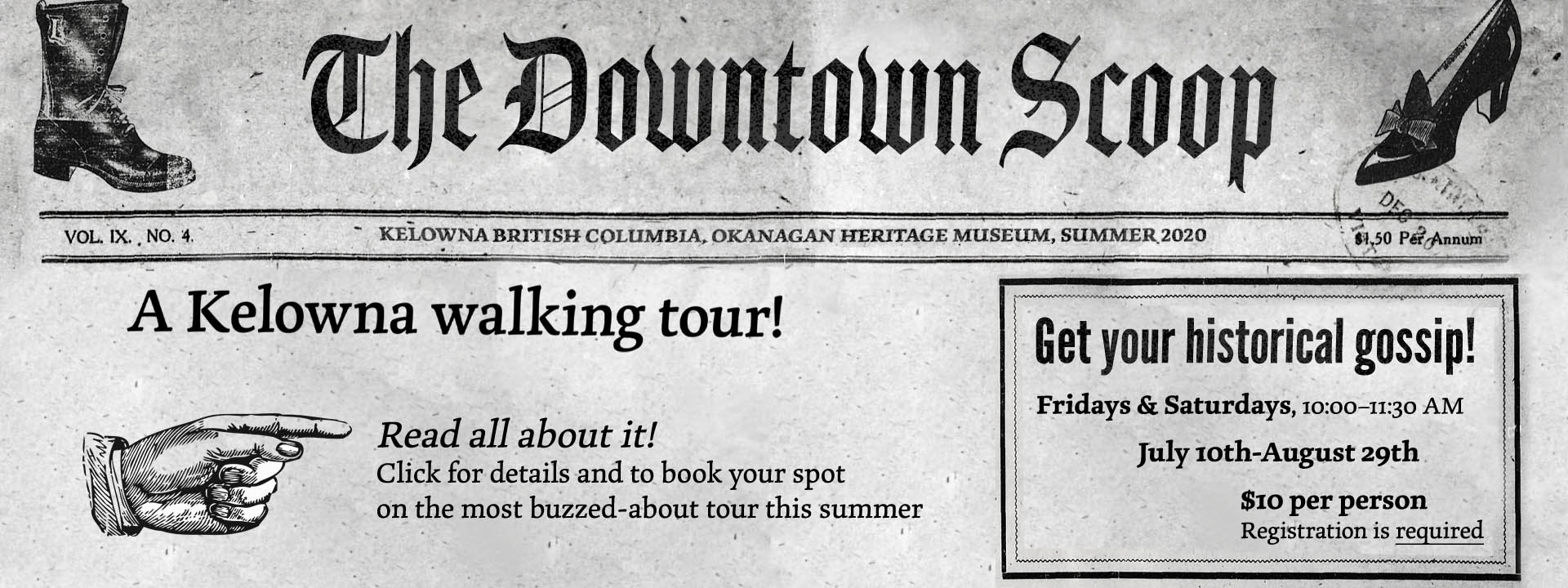 The Downtown Scoop Homepage Banner Home